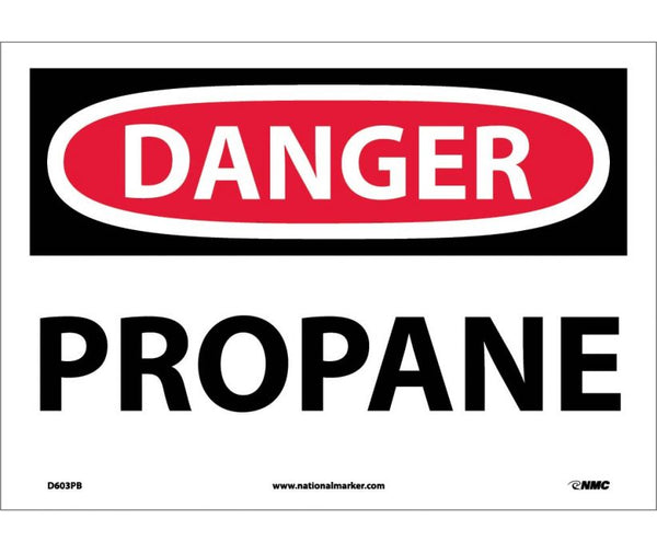 D603 National Marker Chemical and Hazardous Material Safety Signs Danger Propane