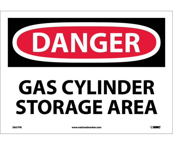 D657 National Marker Chemical and Hazardous Material Safety Signs Danger Gas Cylinder Storage Area