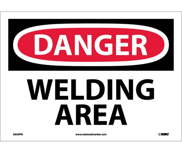 D659 National Marker Chemical and Hazardous Material Safety Signs Danger Welding Area