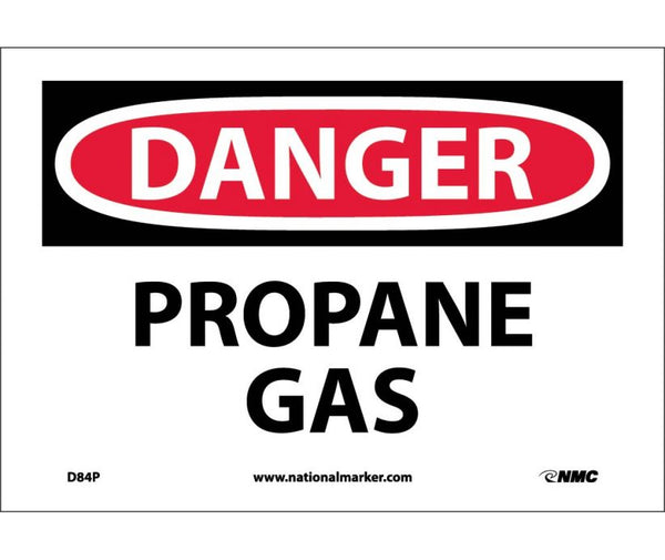 D84 National Marker Chemical and Hazardous Material Safety Signs Danger Propane Gas