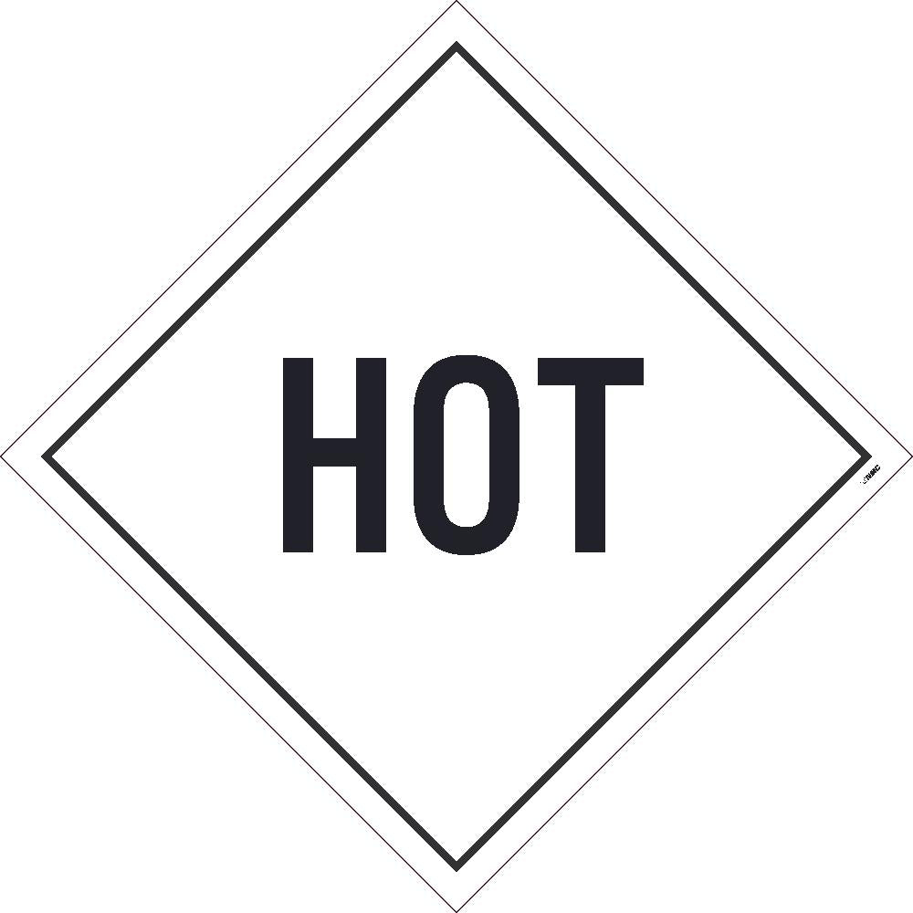 PLACARD, HOT, 10.75X10.75, REMOVABLE PS VINYL, PACK 10
