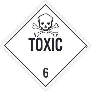 PLACARD, TOXIC 6, 10.75X10.75, TAG BOARD, CARD STOCK, PACK 10