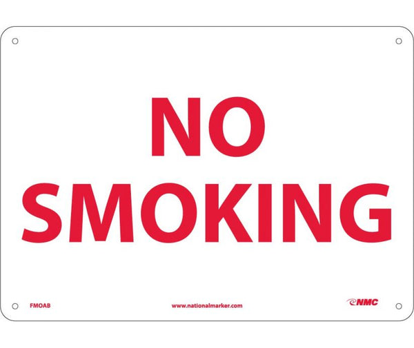 NO SMOKING, 10X14, .040 ALUM