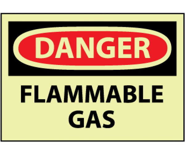 GD276 National Marker Chemical And Hazardous Material Glow In The Dark Safety Signs Danger Flammable Gas