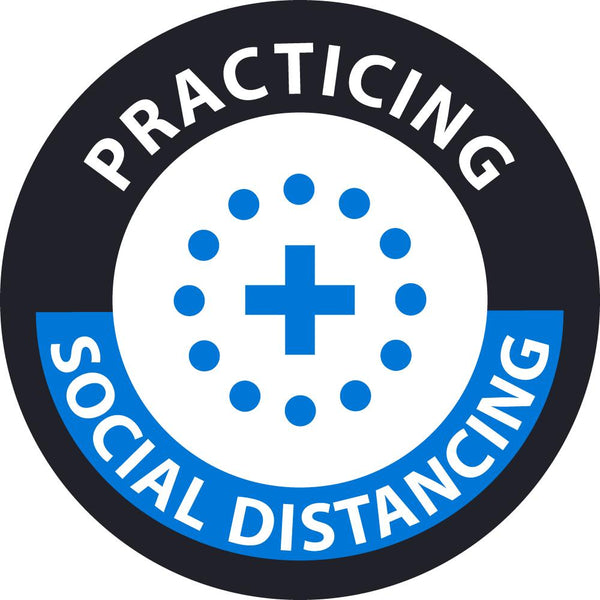Practicing Social Distancing Personnel/ID Safety Labels | HH172 | Different Materils