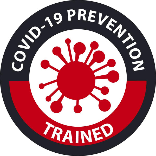 Covid-19 Prevention Trained Personnel/ID Safety Labels | HH174 | Different Materils