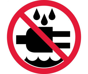 LABEL, GRAPHIC FOR DO NOT EXPOSE TO WATER, 4IN DIA, PS VINYL