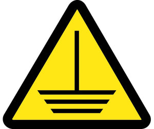 LABEL, GRAPHIC FOR ELECTRIC GROUND HAZARD, 4IN DIA, PS VINYL