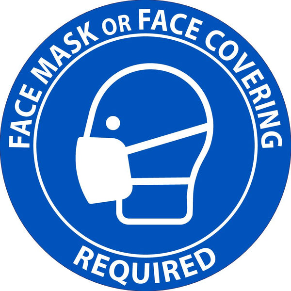 Face Mask Or Face Covering Required Safety Labels | Different SIzes and Materials