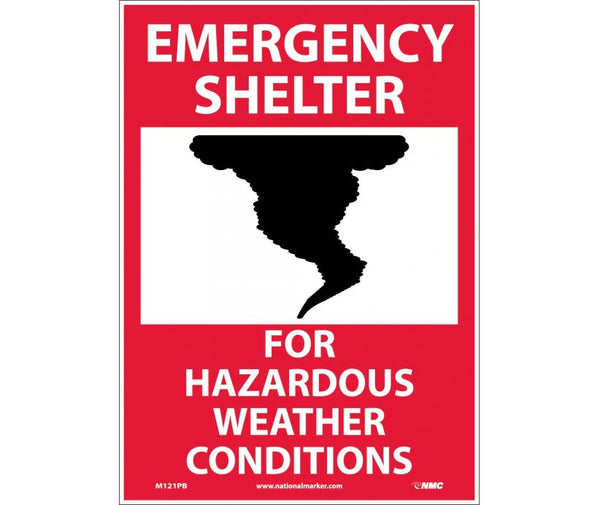M121 National Marker Admittance and Security Signs Emergency Shelter For Hazardous Weather Conditions