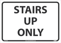 "Stairs Up Only Safety Signs | M515PB | 10"" x 14"" 