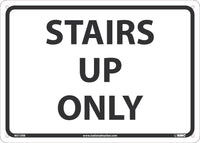 "Stairs Up Only Safety Signs | M515RB | 10"" x 14"" 