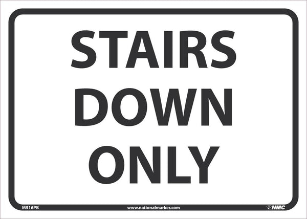 Stairs Down Only Safety Signs | M516PB | 10