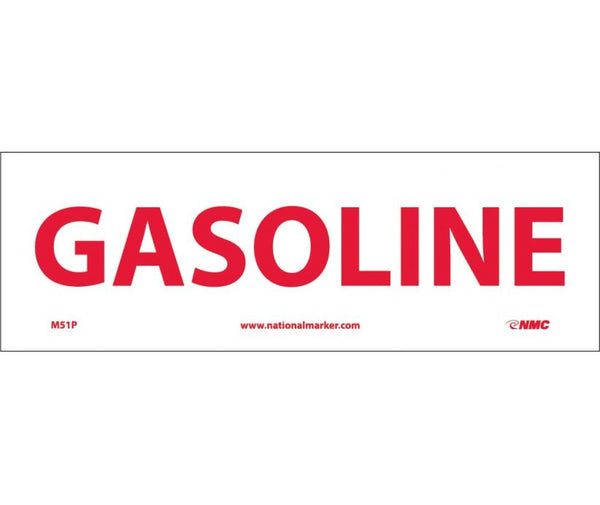 M51 National Marker Chemical And Hazardous Material Safety Signs Gasoline