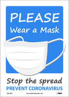 "Please Wear A Mask Stop The Spread Safety Signs | M614PB | 14"" x 10"" 