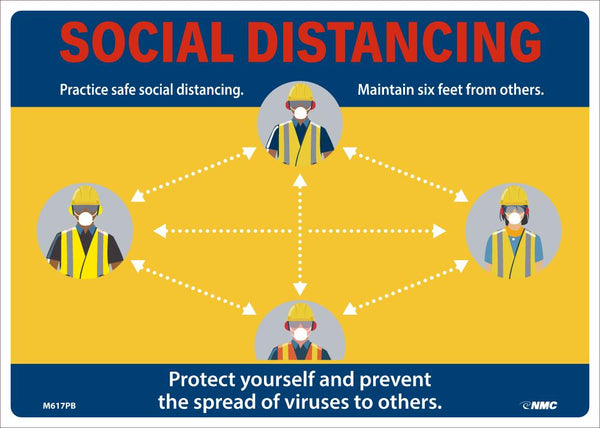 Social Distancing Maintain Six Feet From Others Safety Signs | M617PB | 10