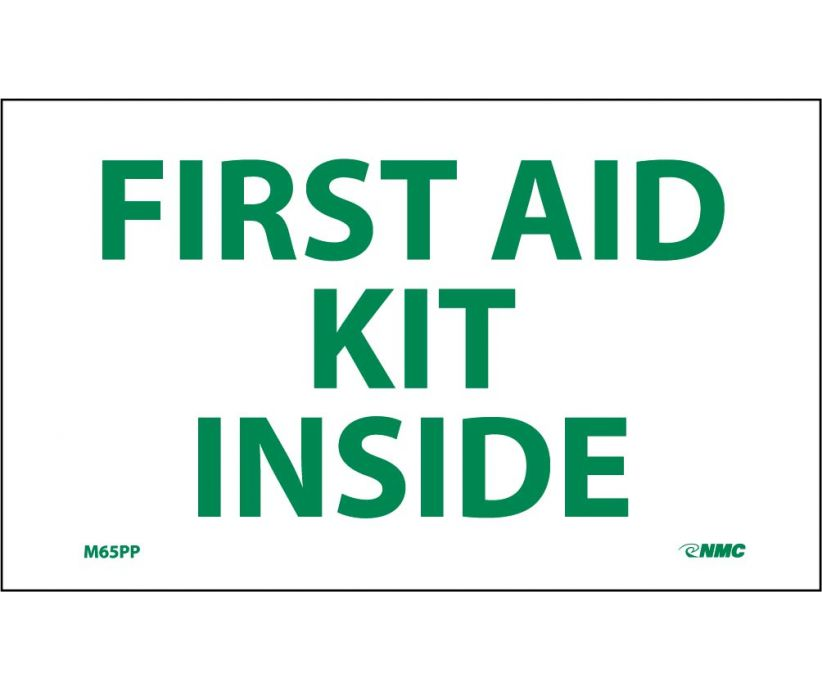 FIRST AID KIT INSIDE, 3X5, PS VINYL