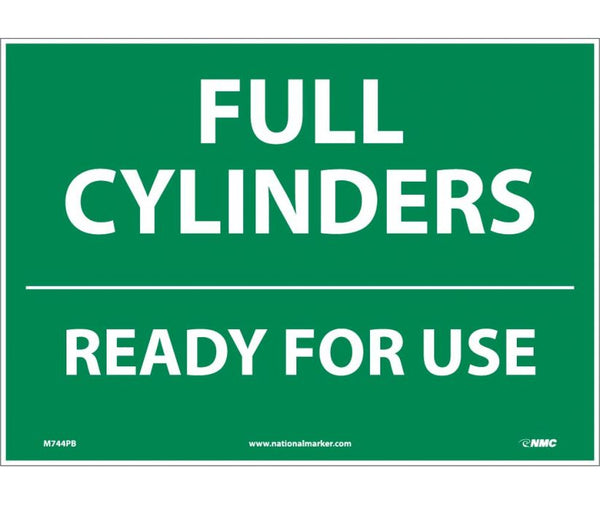M744 National Marker Chemical and Hazardous Material Safety Signs Full Cylinders Ready For Use