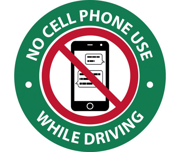 NO CELL PHONE USE, 3X3, PRESSURE SENSITIVE VINYL