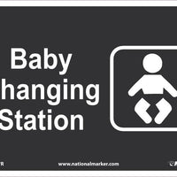 SIGN, 7 X 10 RIGID PLASTIC .050, BABY CHANGING STATION