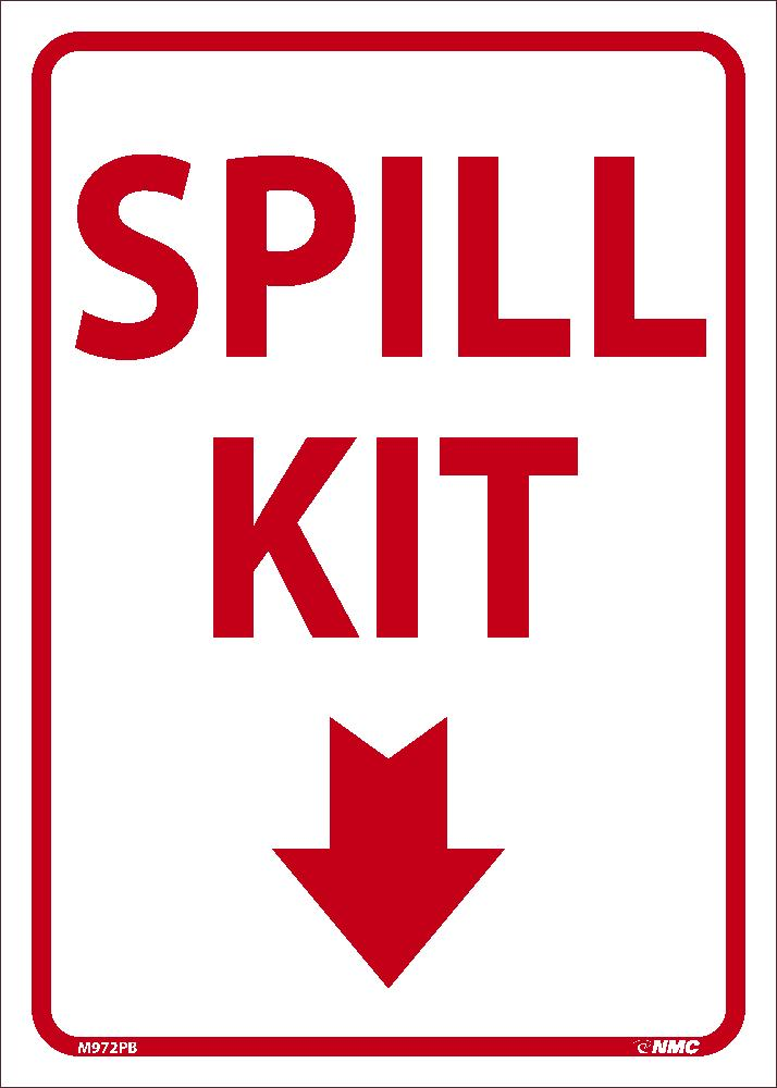 SPILL KIT SIGN WITH GRAPHIC, 14 X 10, PS VINYL