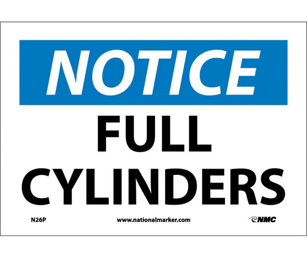 N26 National Marker Chemical and Hazardous Material Safety Signs Notice Full Cylinders