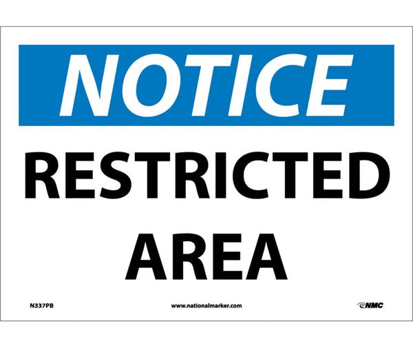 N337 National Marker Admittance and Security Signs Notice Restricted Area