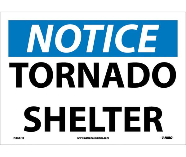 N355 National Marker Admittance and Security Signs Notice Tornado Shelter