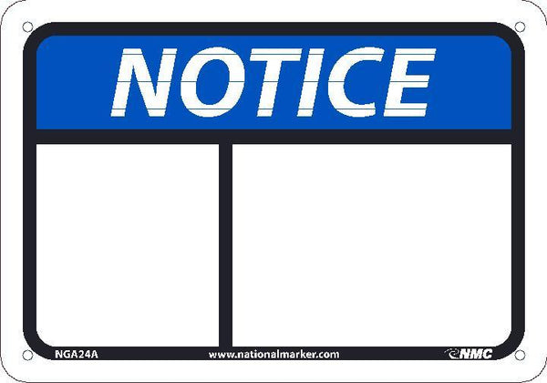 NGA24 National Marker Notice Header Blank