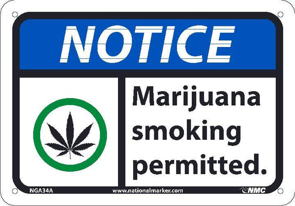 NGA34 National Marker Notice Header Marijuana Smoking Permitted