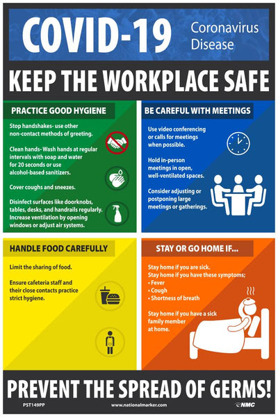 Covid-19 Keep The Workplace Safe Safety Posters | PST149PP | 18