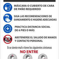"Stop Read Before Entering Spanish Safety Posters | PST155PPSP | 18"" x 12"" 