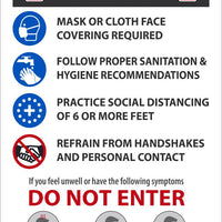 "Stop Read Before Entering Safety Posters | PST155PP | 18"" x 12"" 