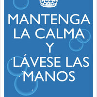 "Keep Calm And Wash Your Hands Spanish Safety Posters | PST156PPSP | 18"" x 12"" 