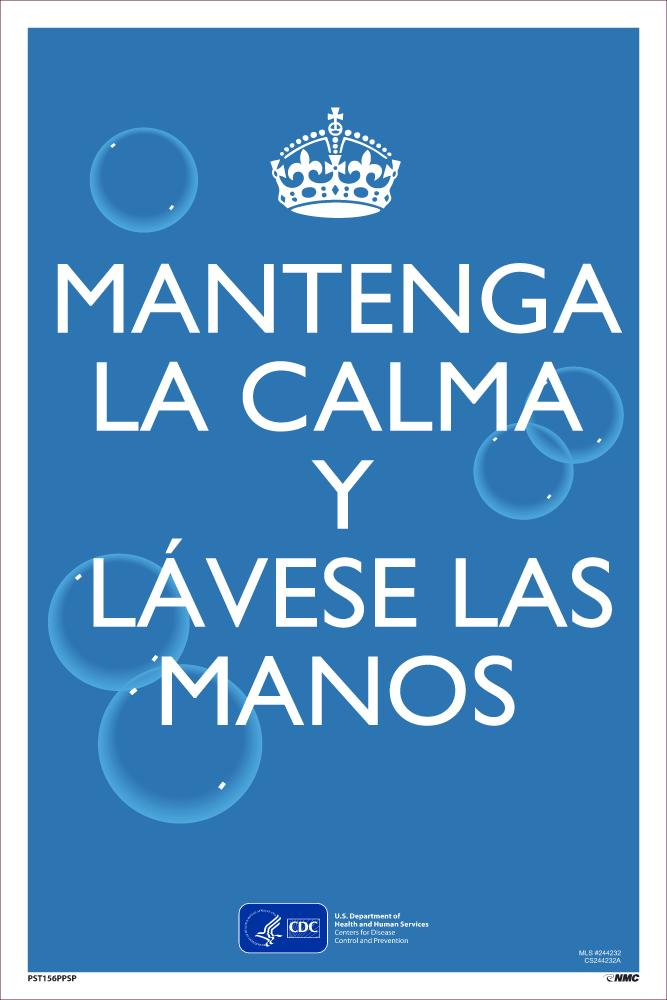 Keep Calm And Wash Your Hands Spanish Safety Posters | PST156PPSP | 18
