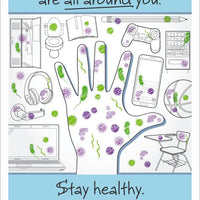 "Germs Are All Around You Stay Healthy Wash Your Hands Safety Posters | PST157PP | 18"" x 12"" 