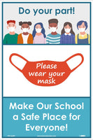 "Do Your Part Please Wear Your Mask Safety Posters | PST162PP | 18"" x 12"" 