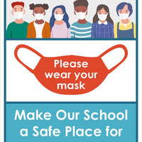 "Do Your Part Please Wear Your Mask Safety Posters | PST162 | 24"" x 18"" 