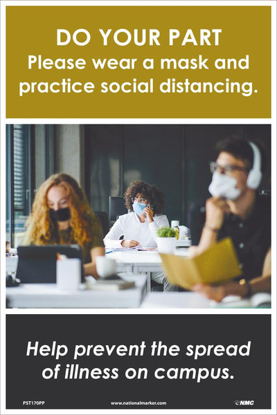 Do Your Part Please Wear A Mask And Practice Social Distancing Safety Posters | PST170PP | 18