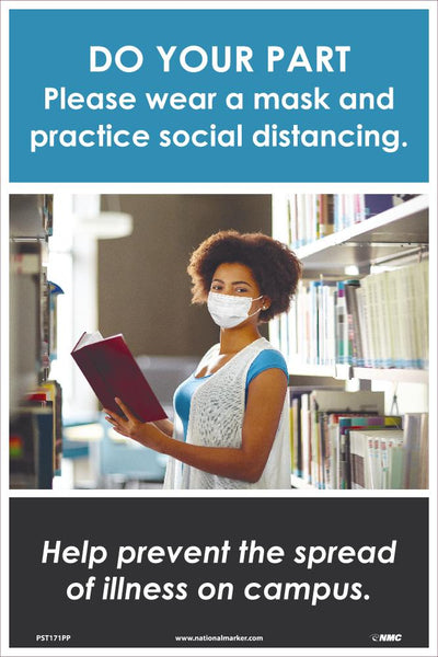 Do Your Part Please Wear A Mask And Practice Social Distancing Safety Posters | PST171PP | 18