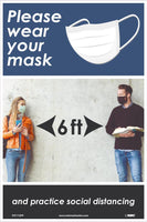 "Please Wear Your Mask Safety Posters | PST172PP | 18"" x 12"" 