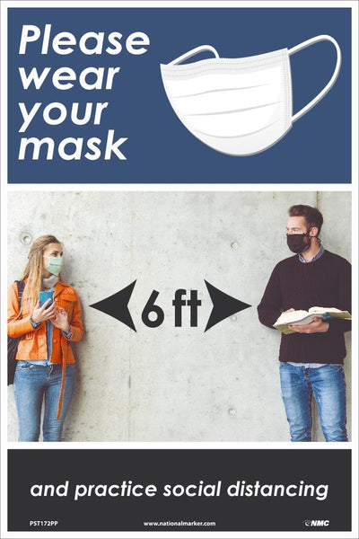 Please Wear Your Mask Safety Posters | PST172PP | 18