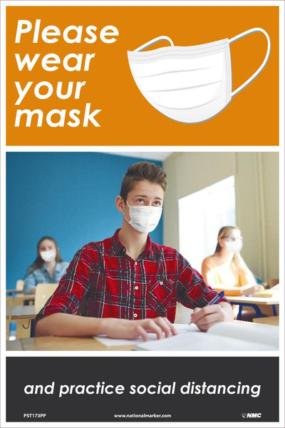 Please Wear Your Mask Safety Posters | PST173PP | 18