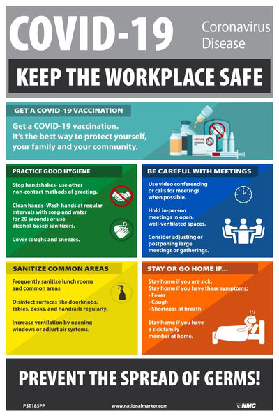 Covid-19 Keep The Workplace Safe Safety Posters | PST185PP | 18