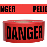 "RED 2""X135' REPULPABLE DANGER BARRICADE TAPE"