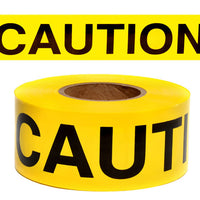 "YELLOW 3""X135' REPULPABLE CAUTION BARRICADE TAPE"