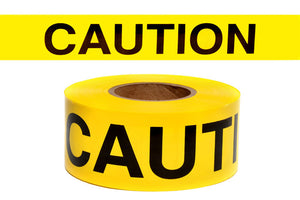 "YELLOW 2""X135' REPULPABLE CAUTION BARRICADE TAPE"