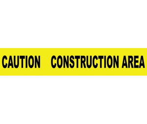 "TAPE, BARRICADE, CAUTION CONSTRUCTION AREA, 3 MIL 3""X1000'"