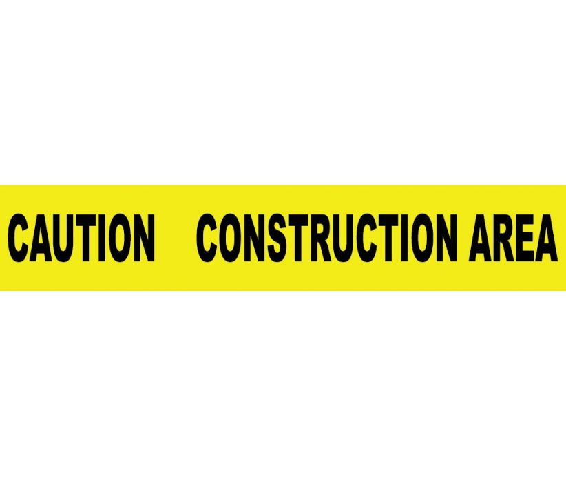 TAPE, BARRICADE, CAUTION CONSTRUCTION AREA, 3 MIL 3