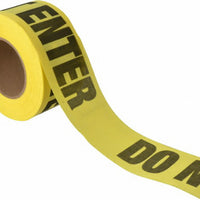 "RED 3""X135' REPULPABLE DO NOT ENTER BARRICADE TAPE"